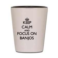 Cute I love banjos Shot Glass