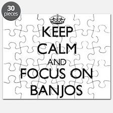 Unique I love banjos Puzzle