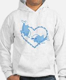 I Love Dolphins (Blue) Hoodie