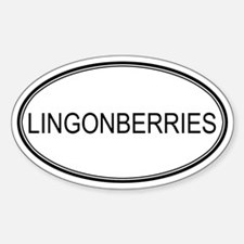LINGONBERRIES (oval) Oval Decal