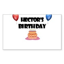 Hector's Birthday Rectangle Decal