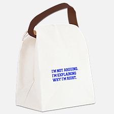 IM-NOT-ARGUING-fresh-blue Canvas Lunch Bag