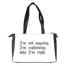 IM-NOT-ARGUING-ger-gray Diaper Bag