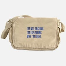 IM-NOT-ARGUING-UNI-BLUE Messenger Bag