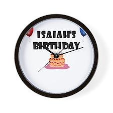 Isaiah's Birthday Wall Clock