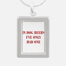 IN-DOG-BEERS-BOD-RED Necklaces