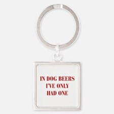 IN-DOG-BEERS-BOD-RED Keychains