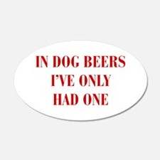 IN-DOG-BEERS-BOD-RED Wall Decal