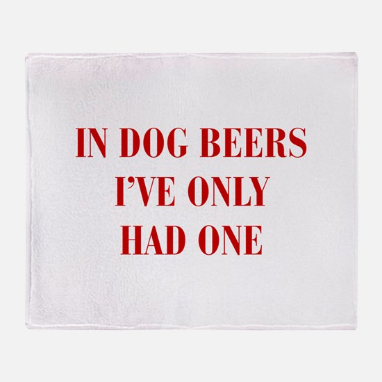 IN-DOG-BEERS-BOD-RED Throw Blanket