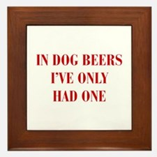 IN-DOG-BEERS-BOD-RED Framed Tile