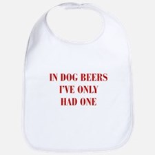 IN-DOG-BEERS-BOD-RED Bib