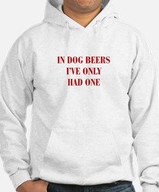 IN-DOG-BEERS-BOD-RED Hoodie