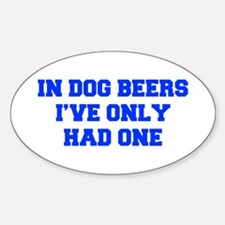IN-DOG-BEERS-FRESH-BLUE Decal