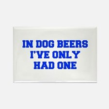 IN-DOG-BEERS-FRESH-BLUE Magnets
