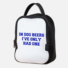 IN-DOG-BEERS-FRESH-BLUE Neoprene Lunch Bag