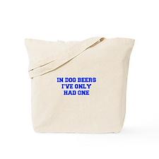 IN-DOG-BEERS-FRESH-BLUE Tote Bag