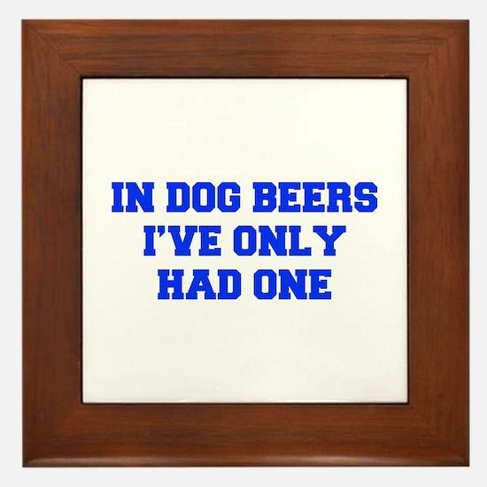 IN-DOG-BEERS-FRESH-BLUE Framed Tile