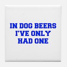IN-DOG-BEERS-FRESH-BLUE Tile Coaster