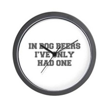 IN-DOG-BEERS-FRESH-GRAY Wall Clock