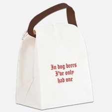 IN-DOG-BEERS-old-red Canvas Lunch Bag