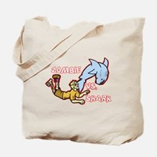 Zombie Vs. Shark Tote Bag