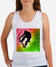 Skateboarder in a Psychedelic Tank Top