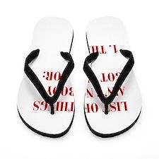 LIST-OF-THINGS-BOD-RED Flip Flops