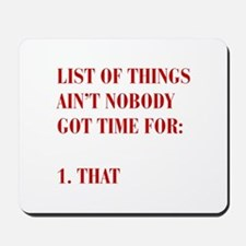 LIST-OF-THINGS-BOD-RED Mousepad