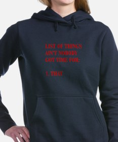 LIST-OF-THINGS-BOD-RED Women's Hooded Sweatshirt