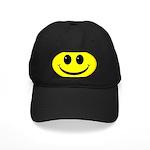 Smiley Face Black Cap