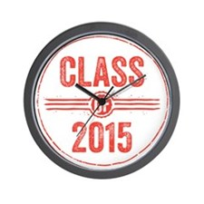 Stamp Class of 2015 Red Wall Clock