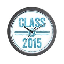Stamp Class of 2015 Blue Wall Clock