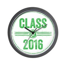 Stamp Class of 2016 Green Wall Clock