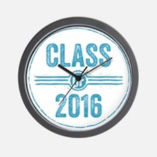 Stamp Class of 2016 Blue Wall Clock
