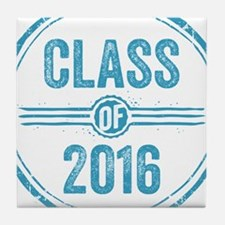 Stamp Class of 2016 Blue Tile Coaster