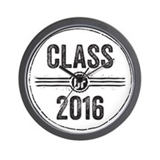 Stamp Class of 2016 Black Wall Clock