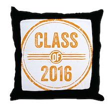 Stamp Class of 2016 Orange Throw Pillow