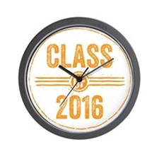 Stamp Class of 2016 Orange Wall Clock