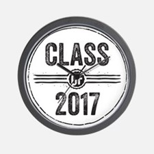 Stamp Class of 2017 Black Wall Clock