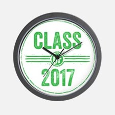 Stamp Class of 2017 Green Wall Clock
