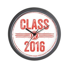 Stamp Class of 2016 Red Wall Clock