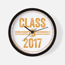 Stamp Class of 2017 Orange Wall Clock