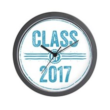Stamp Class of 2017 Blue Wall Clock