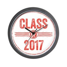 Stamp Class of 2017 Red Wall Clock