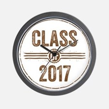Stamp Class of 2017 Brown Wall Clock