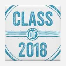 Stamp Class of 2018 Blue Tile Coaster