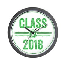 Stamp Class of 2018 Green Wall Clock