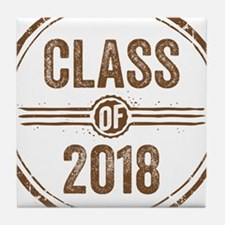 Stamp Class of 2018 Brown Tile Coaster