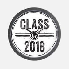 Stamp Class of 2018 Black Wall Clock
