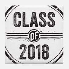 Stamp Class of 2018 Black Tile Coaster